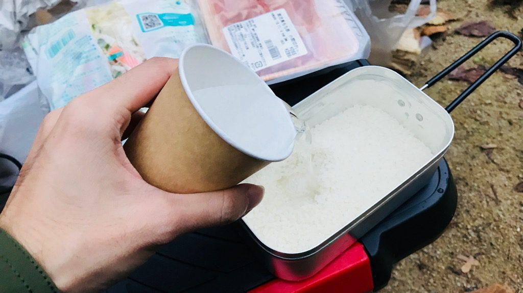 トランギアのメスティン「TR-210」炊飯手順③