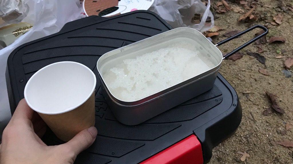 トランギアのメスティン「TR-210」炊飯手順④