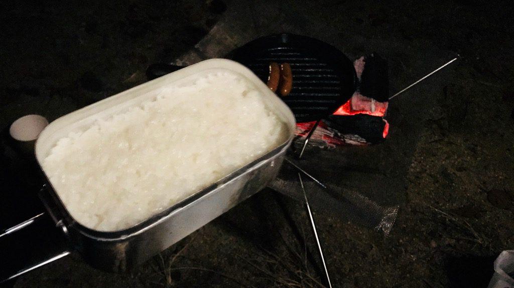 トランギアのメスティン「TR-210」炊飯手順⑧
