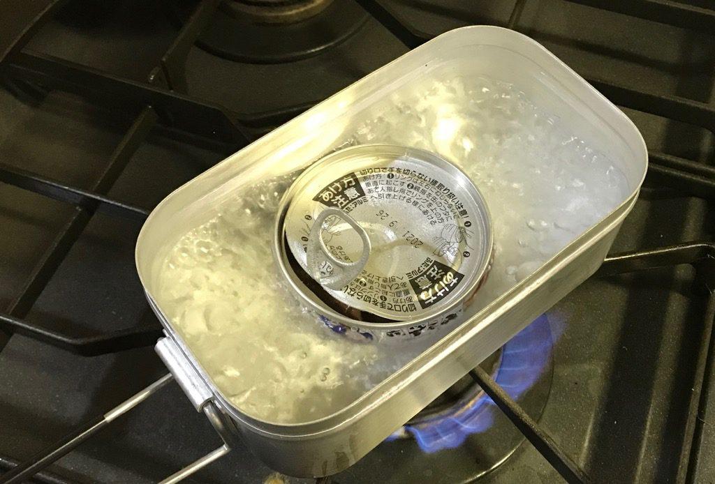 トランギアのメスティン「TR-210」での湯煎