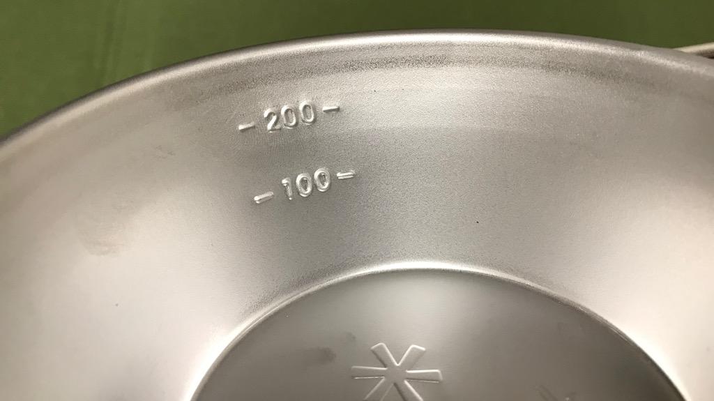 シェラカップの素材:ステンレス→錆びにくく丈夫。熱伝導性はあまり良くない