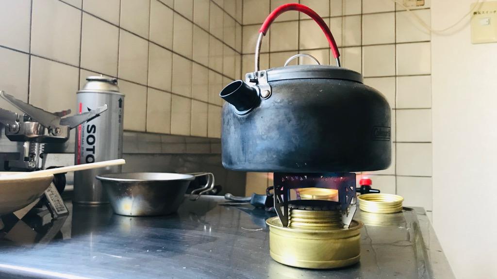 EVERNEW(エバニュー)チタンゴトクの使い心地:コンパクトに使える。シェラカップやケトルにぴったり