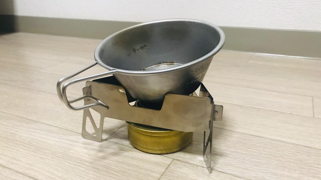 イワタニプリムス トライアングルグリッドのデメリット・悪いところ:シェラカップとか底面積ちいさいものは乗せにくい