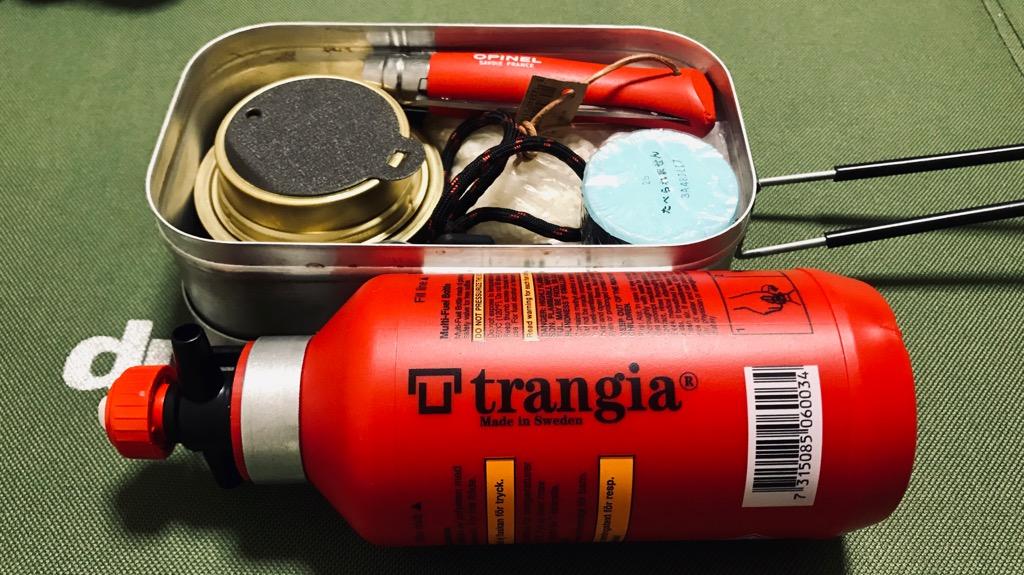 トランギア フューエルボトルのメリット・良いところ:純粋にデザインがカッコ良い。持ってて楽しくなる