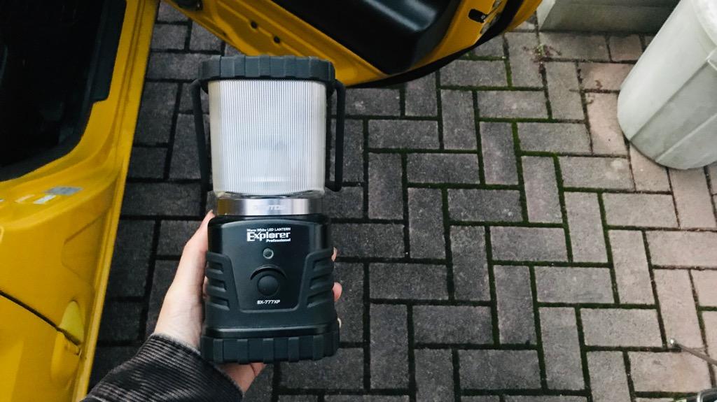 FOGEEK LEDランタンは軽量かつコンパクト
