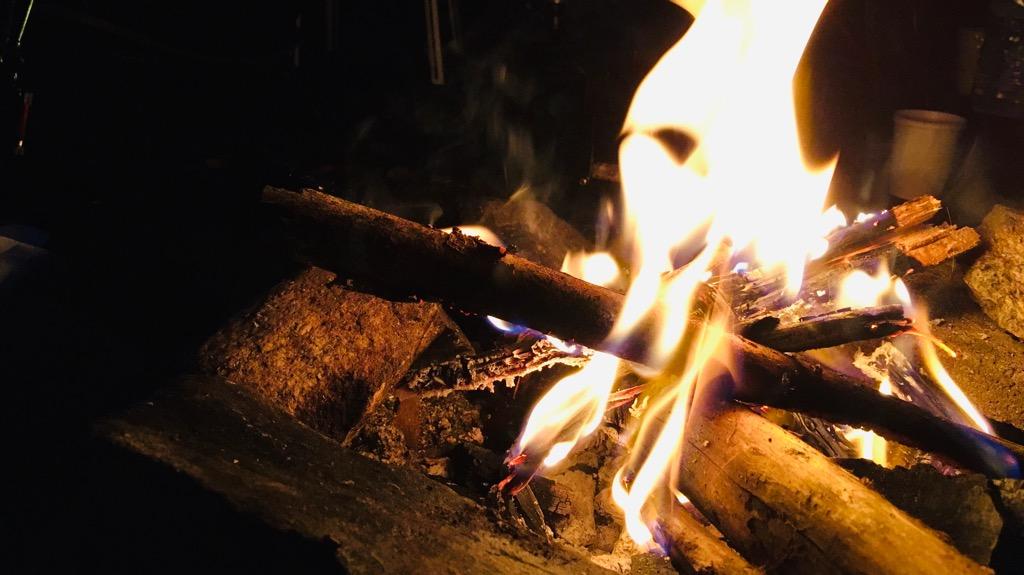 デイキャンプのデメリット:夜の焚き火を楽しめない